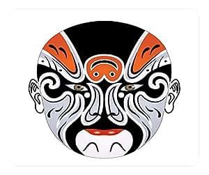 Beijing Opera Facial Masks White Rectangular Mouse Pad - Xu Zhu