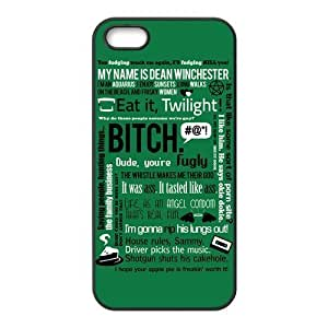 Funny SPN Supernatural Quotes Hard Phone Cover Case American for iPhone cheat 5,5S Cases in changed &hong hong customize