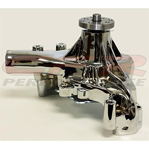 1969-76 Compatible/Replacement for Chevy Small Block Aluminum High Volume Long Water Pump - Chrome ()