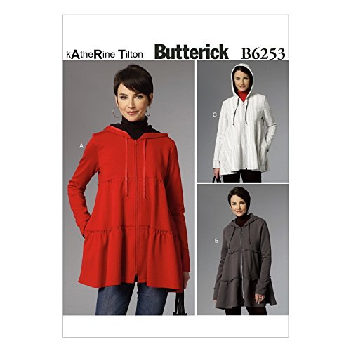 BUTTERICK B6253 Y MISSES JACKET SIZE XSM,SML,MED SEWING PATTERN