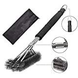 ahere Grill Brush BBQ,18'' BBQ Grill Cleaning Brush - Stainless Steel Wire Bristles 3-in-1 Cleaning Bruhes Provides Effortless Cleaning.006