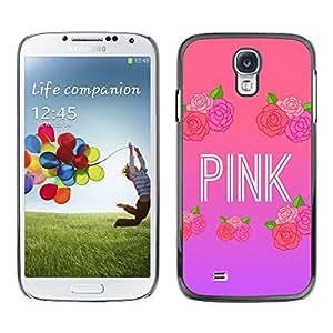 TopCaseStore / la caja del caucho duro de la cubierta de protección de la piel - Music Artist Text Love - Samsung Galaxy S4 I9500