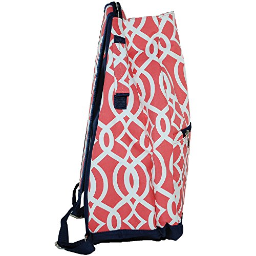 Personalized Coral Vine 2 Racquet Tennis Backpack Bag by LD Bags (Image #1)