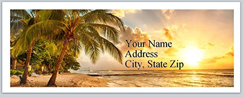 150 Personalized Address Labels Scenic Beach Sunset (P 252) ()