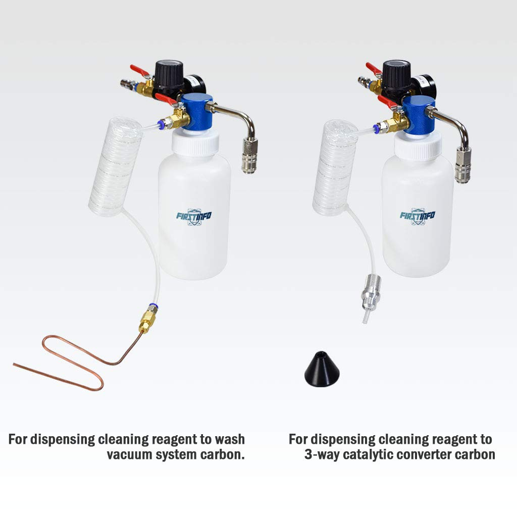 FIRSTINFO 3 in 1 Air/Pneumatic Engine Intake System Carbon Washing Kit Engine Combustor System by FIRSTINFO TOOLS FIT YOUR NEEDS (Image #6)
