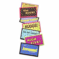 Let your students, team, or co-workers know they're appreciated for the efforts they make and the risks they take to learn and grow. With our 70-piece collection of Kudos Cards, you can now distribute these happy-looking notes to anyone who d...