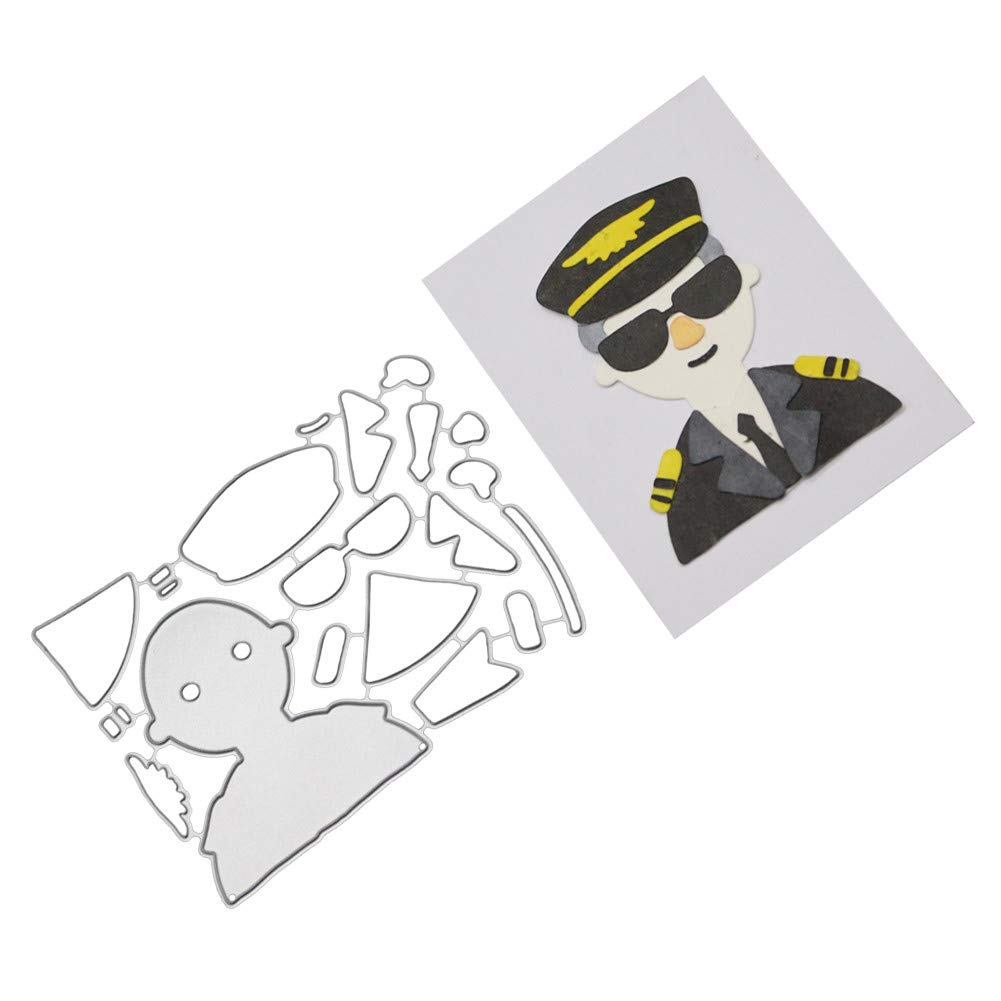 Pollyhb Cutting Dies,Cutting Dies,Die Cuts,Dies for Card Making,Metal Dies for Paper Crafting /& Card Making,Rectangular Girl Police Children,Die Cuts for Card Making On Clearance E