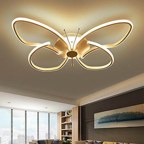 LED Ceiling Light Creative Butterfly Lights Childrens Bedroom Study - Butterfly lights for bedroom