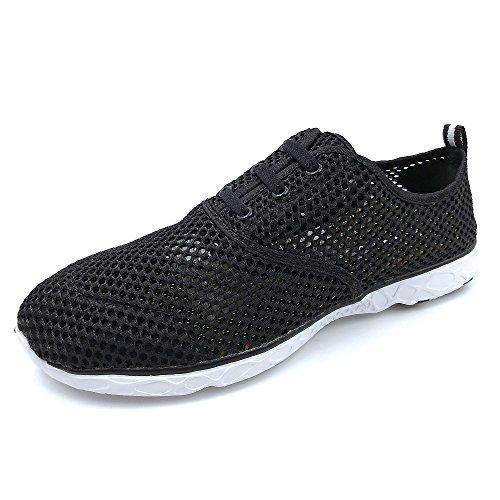 Amoji Unisex Water Aqua Shoes Athletic Sneakers 8859black