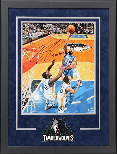 Karl-Anthony Towns Minnesota Timberwolves Delux Framed Autographed 16
