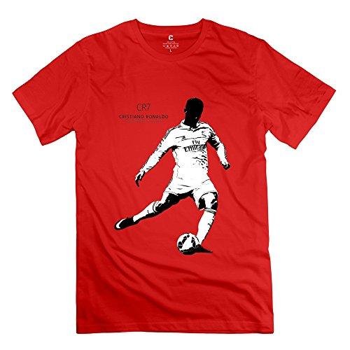 Custom Men's Tee Personalized Ronaldo Football Soccer Star CR7 Size S Red