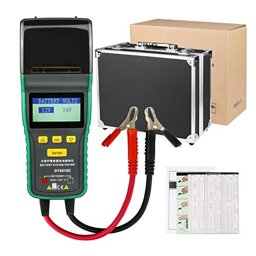 DuoYi 12V/24V Automotive Battery Tester, Lead-Acid Battery Analyzer CCA 100-1700 SOH 0-100% Integrated Printer Diagnostic Tool with Suitcase (DY2015C) by DuoYi (Image #6)