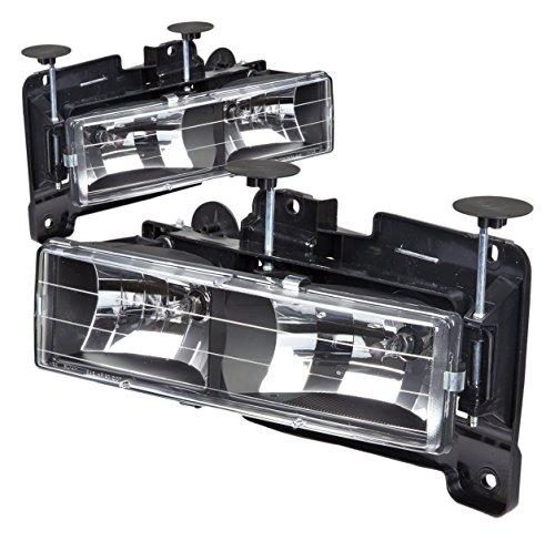 DNA Motoring HL-OH-C10-BK Headlight Assembly, Driver & Passenger Side