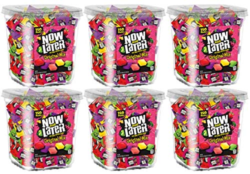 Now & Later Original Taffy Chews Candy, Assorted, 150 Count Chews, 90 Ounce Jar (Pack of 6) by Now and Later (Image #2)