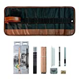Haplain Sketching Pencil Set Pens Charcoal Sketch Set with Roll Up Canvas Carry Pouch Pencils Eraser Craft Knife Pencil Extender 29pcs Set for Beginners Artist Student