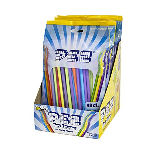 PEZ Fun Straws, 40 count (Pack of 12)