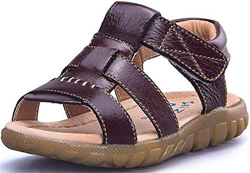 ppxid-boys-girls-leather-open-toe-casual-sandals-brown-2-us-little-kid