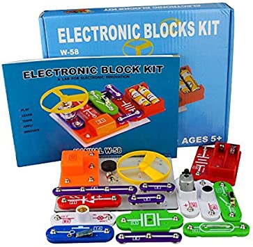 58 Kit de Ciencia DIY para Niños Kits de Experimento Bloques Electrónicos Circuitos de Ciencia Juguete Kit de Descubrimiento Educativo Seguro para 5-8 Edades Niños: Amazon.es: Juguetes y juegos