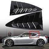 Acouto Left & Right Side Window Louver Vent Cover Trim for Toyota 86/Scion FR-S Subaru BRZ 13-18(Carbon Fiber)