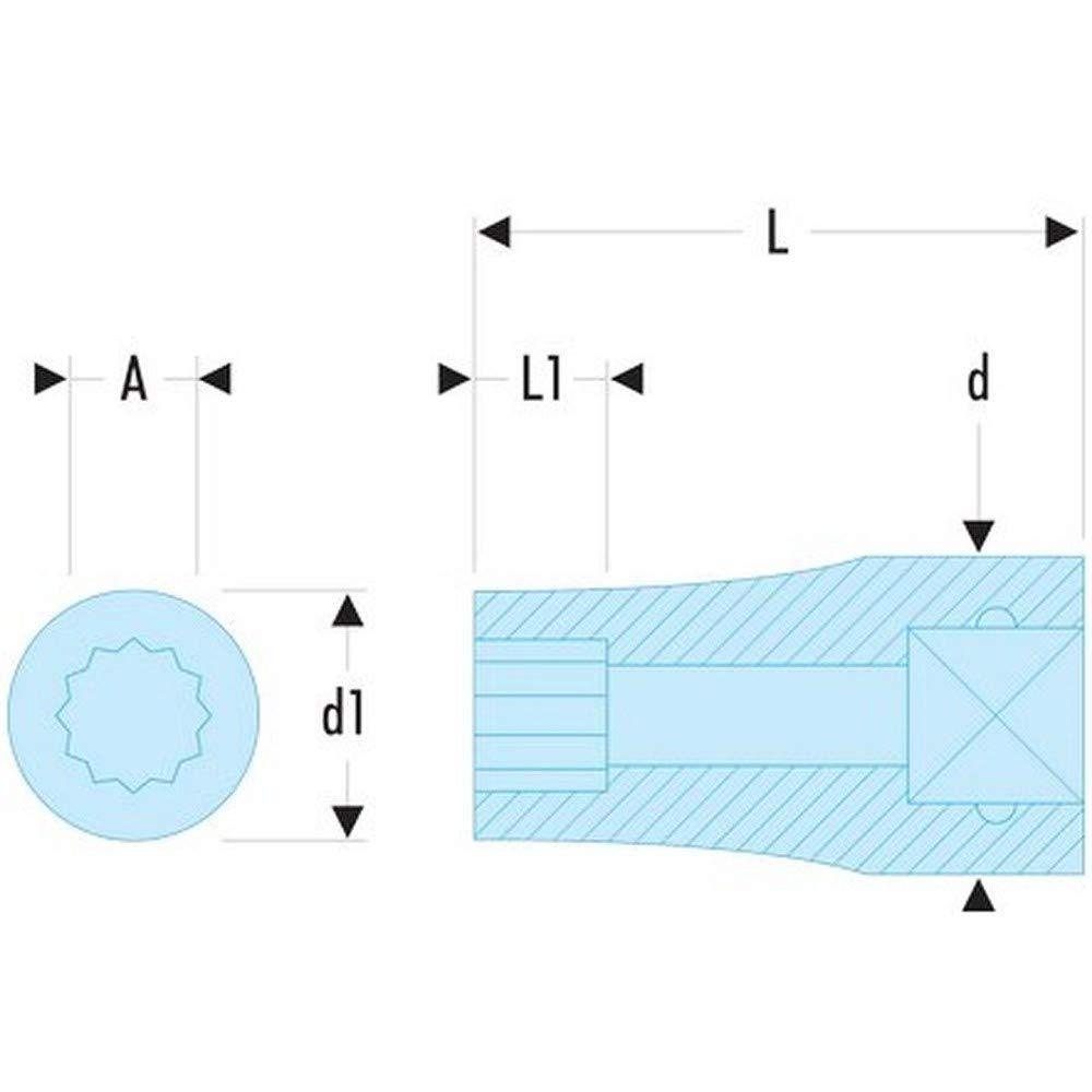Facom R.3 8EL-Douille 1//4//12C LONGUE 3//8