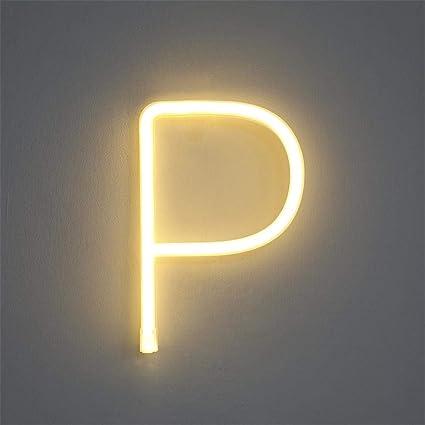 Amazon.com: m·kvfa - Luces LED con forma de letra, de ...