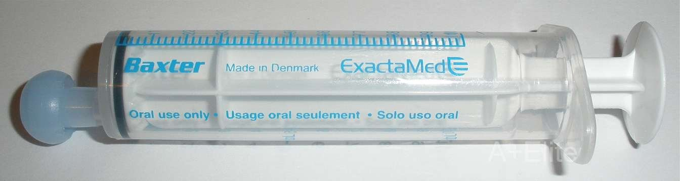 BAXA ExactaMed Oral Liquid Medication Syringe 10cc / 10mL 100/PK Clear Medicine Dose Dispenser With Cap Exacta-Med BAXTER Comar Latex Free by Baxa (Image #3)