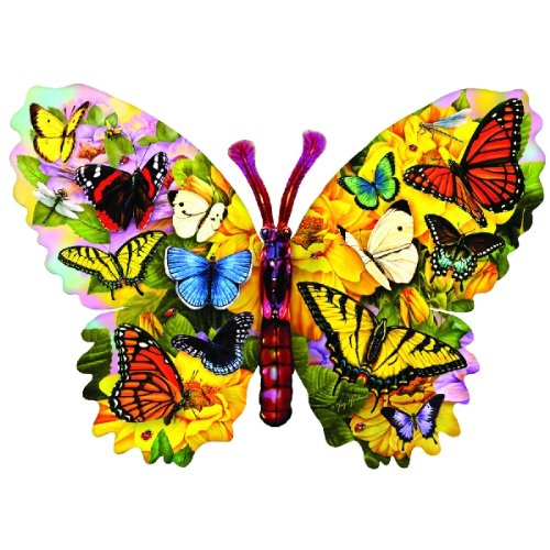 Wings of Color - Shaped Butterfly Puzzle - 1000 pc Jigsaw Puzzle
