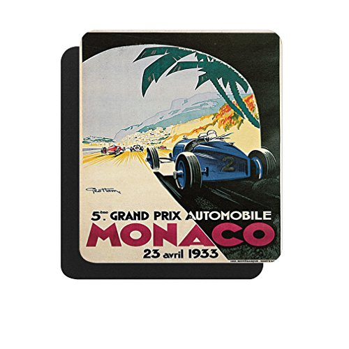 5Th Grand Prix Monaco (Geo Ham) Poster Computer Laptop Gaming Mouse ()