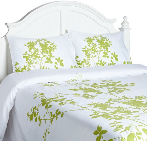 Echelon Home Silent Woods Full/Queen Duvet Cover Set, (Leaf Queen Duvet)