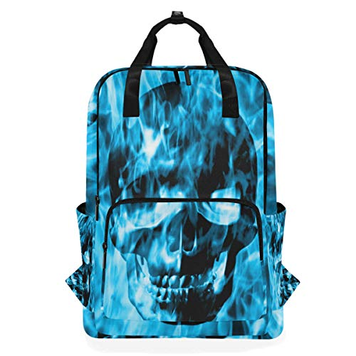 KUWT Abstract Day of The Dead Skull School Backpack for Girls Boys Kids Laptop Backpack Travel Camping Daypack]()