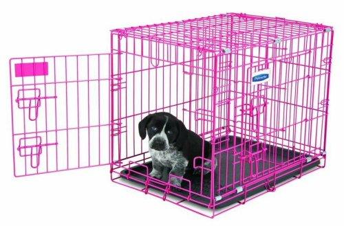 Petmate 21929 Puppy 2 Door Training Retreat, 24-Inch, Pink