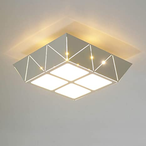 KAWELL 12W LED Flush Mount Ceiling Light Square LED Ceiling Lamp for Home Warm White