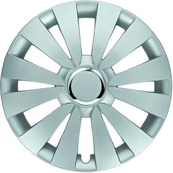 4 Tapacubos Tapacubos tipo Sky Plata apto para Nissan 15 pulgadas Llantas de Acero: Amazon.es: Coche y moto
