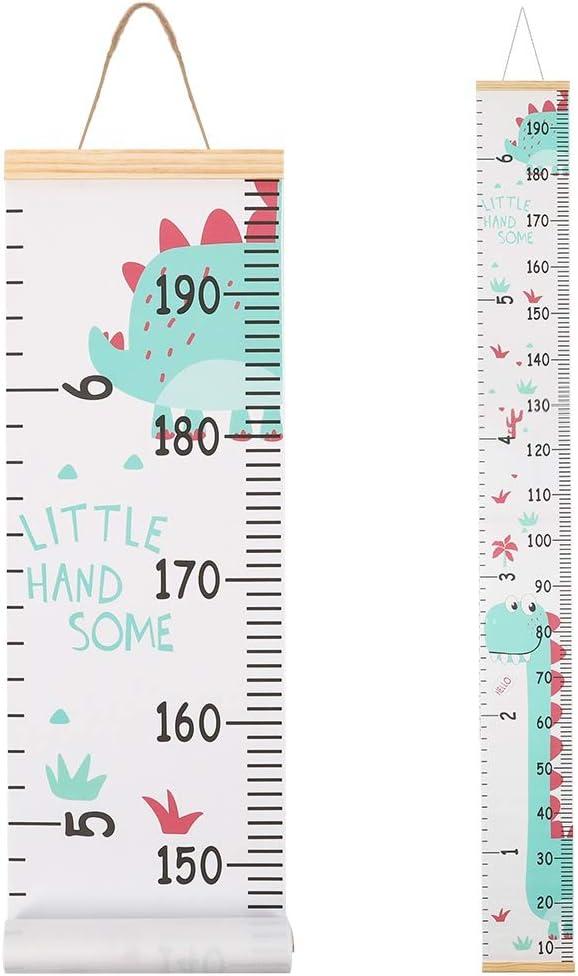 fanshiontide Medidor altura Gráficos de Crecimiento para Colgar en la Pared, Tabla de Crecimiento, Regla para Niños y Niñas, Decoración de la Habitación Infantil, Tabla de Crecimiento 20 x 200cm