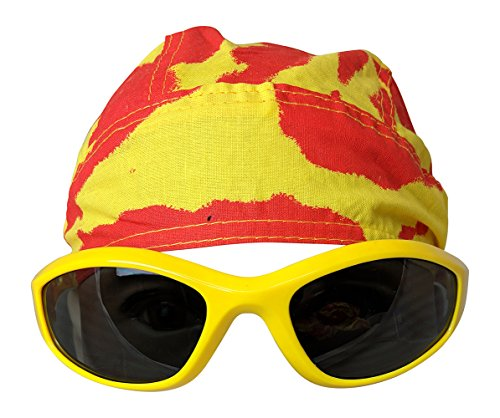 tie-dye-Skull-Cap-Doo-rag-for-Hulk-Hogan-Hulkamania-Mens-Costume-Yellow by Main Event Market