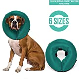 ProCollar Protective Inflatable Recovery Collar for Dogs and Cats - Soft Pet Cone Does Not Block Vision E-Collar - Designed to Prevent Pets from Touching Stitches, Wounds and Rashes (Medium)