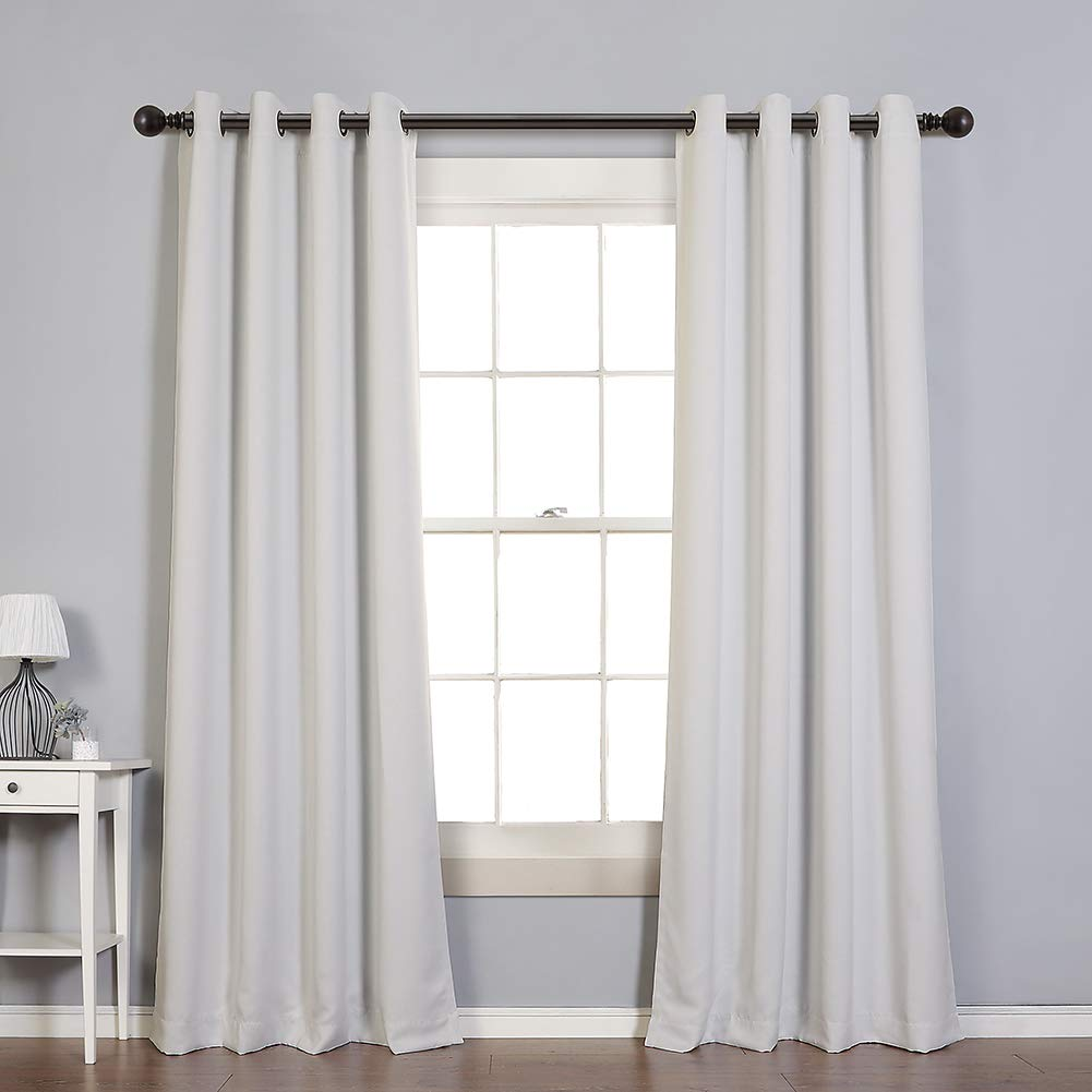MYSKY HOME Solid Grommet top Thermal Insulated Window Blackout Curtains, 52 x 84 Inch, Greyish White, 1 Panel