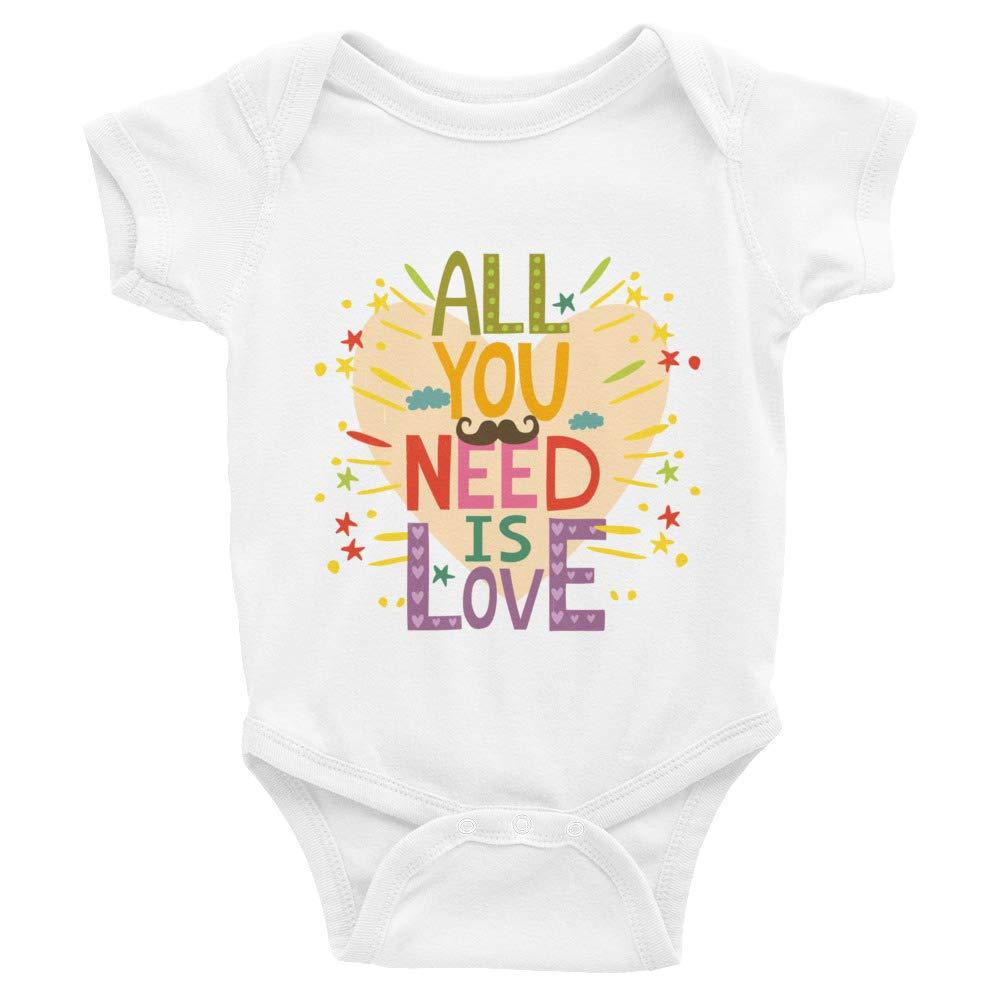 Dias Designer Infant Bodysuit All You Need is Love
