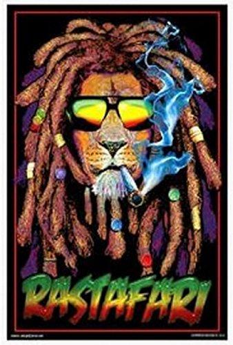 Rastafari Lion Blacklight Poster Nice Print