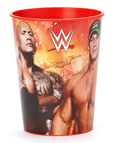 Grand Slammin' WWE Birthday Party Plastic Favour Cup  (1 Piece), Red, 16 oz.
