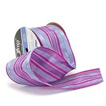Offray Wired Edge Nessie Craft Ribbon, 3-Inch Wide by 10-Yard Spool, Cyclamen