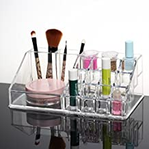 Ohuhu Lipstick Organizer Nail Polish Makeup Cosmetic Case Stand Display Rack Holder