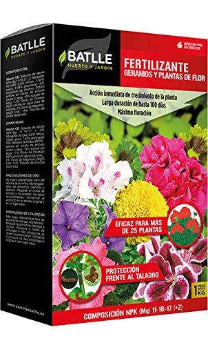 Abonos - Fertilizante geranios y plantas con flor Caja 1 kg. - Batlle