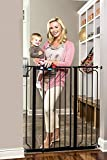 Deluxe Platinum Easy Step 41-Inch Extra Tall Walk Through Baby Gate (Black)