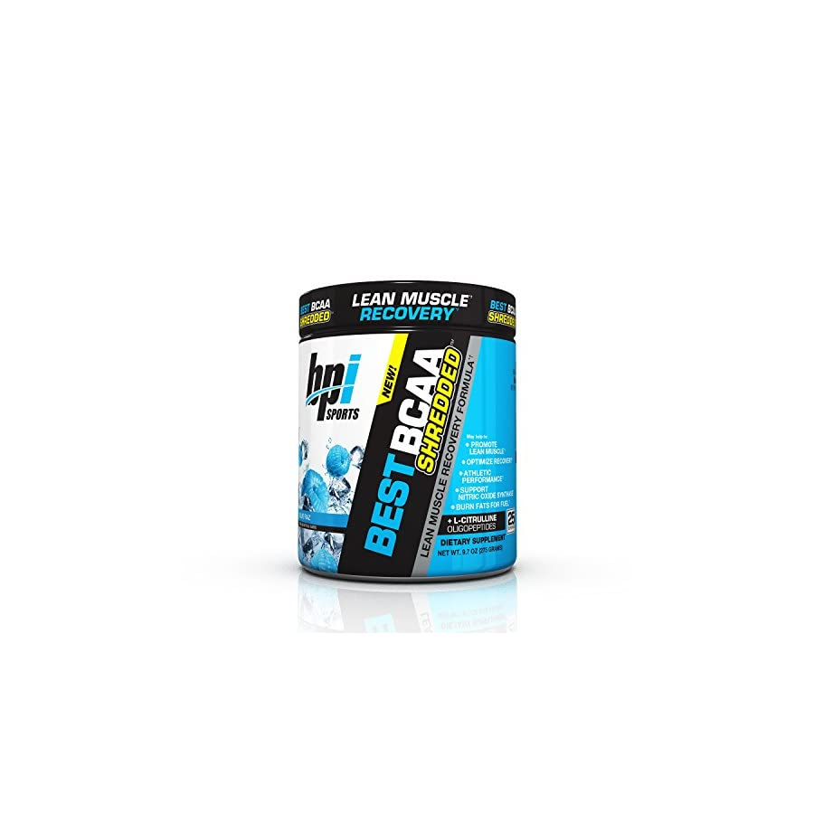 BPI Sports Best BCAA Shredded Caffeine Free Thermogenic Recovery Formula for Lean Muscle Growth