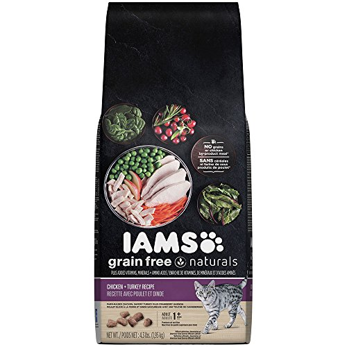 Iams Grain Free Naturals Chicken And Turkey Recipe Dry Cat Food 4.3 Pounds (Discontinued By Manufacturer)