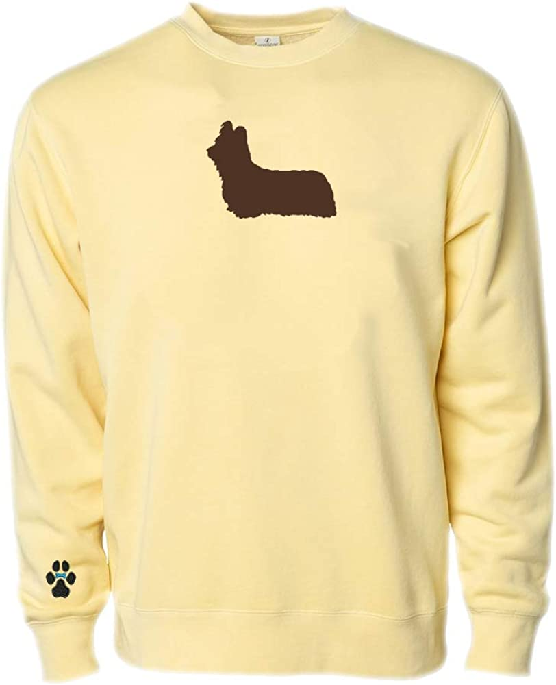 Heavyweight Pigment-Dyed Sweatshirt with Skye Terrier Silhouette