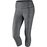 NIKE Legend 2.0 Zig Zag Ladies Capris, Grey/Black/White, XL