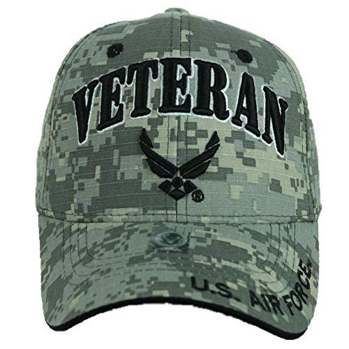 90210 Wholesale USA AIR Force Baseball Cap US Air Force USAF Veteran Retired Hats CAMO Hat Caps (ACM-Veteran)