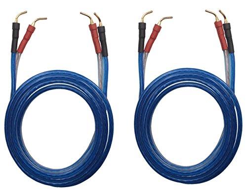 KK ZB-ZB 1pair set(Total 8 pin Plug) HIFI OFC Speaker Wire, Pin Type Plug to Pin Type Plug 1.5M(4.92ft)/3M(9.84ft)/5M(16ft), KK ZB-ZB (3M(9.84ft)) by KK Cable